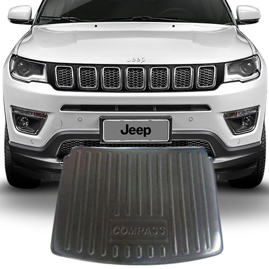 Tapete Porta Malas  Jeep Compass 2017 e 2019 Preto Fabricado em PVC