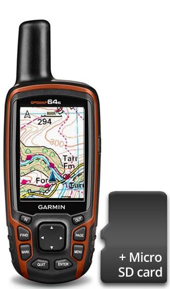 Gps Garmin Map 64s Brindes Mapa Rodoviario + Mapa Topografico Brasil + Carta Nautica Brasil