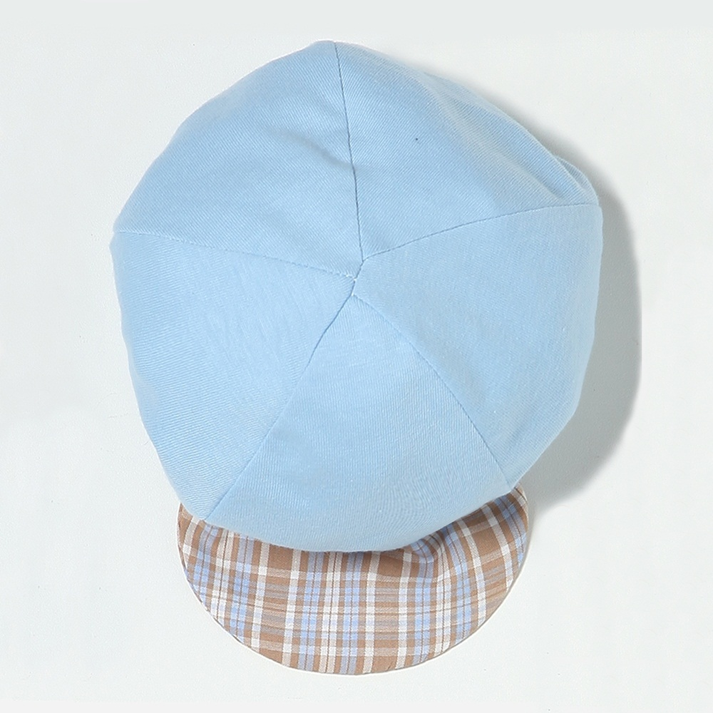 Boné Liso Aba Xadrez Azul Bebê