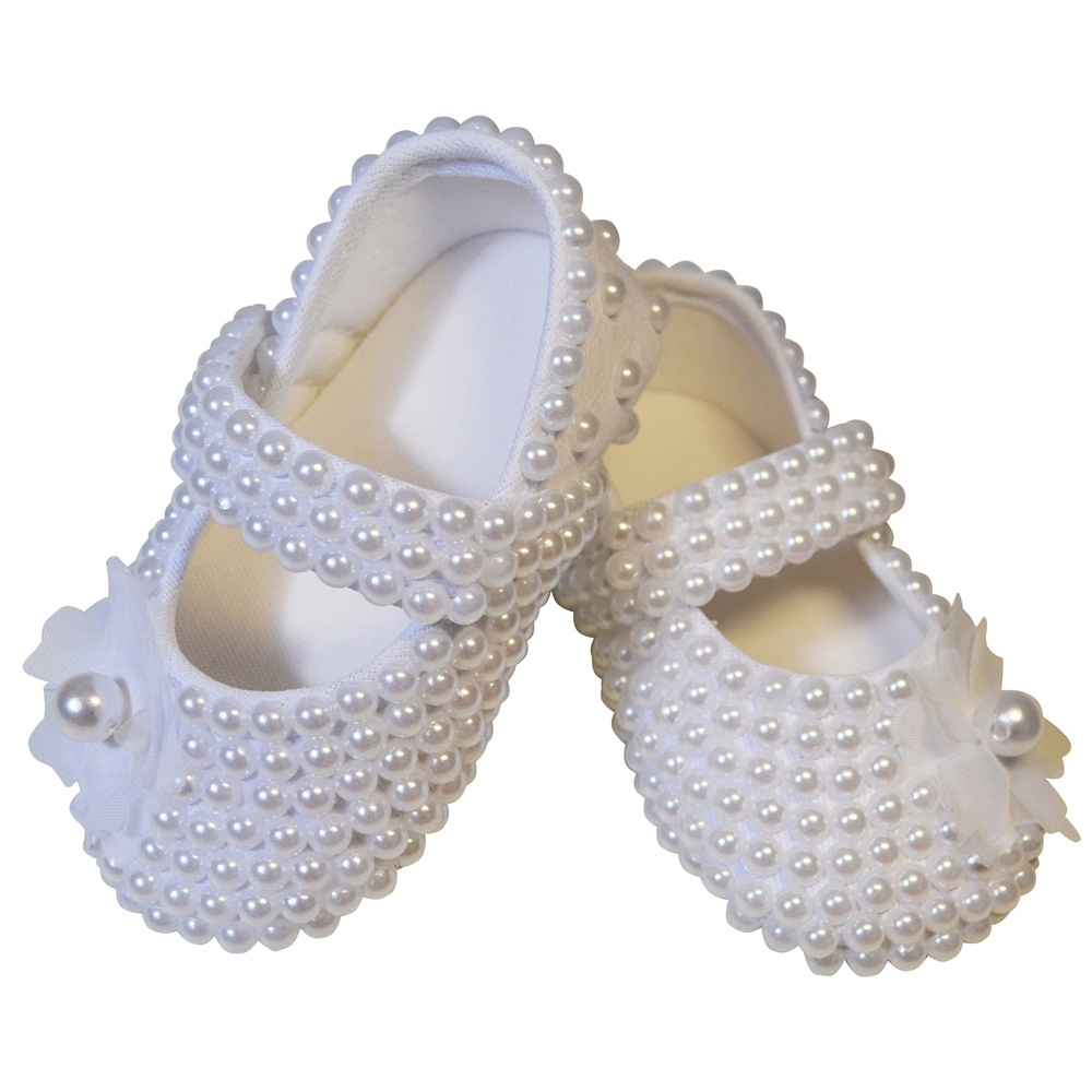 Sapato Pérolas Flor Branca