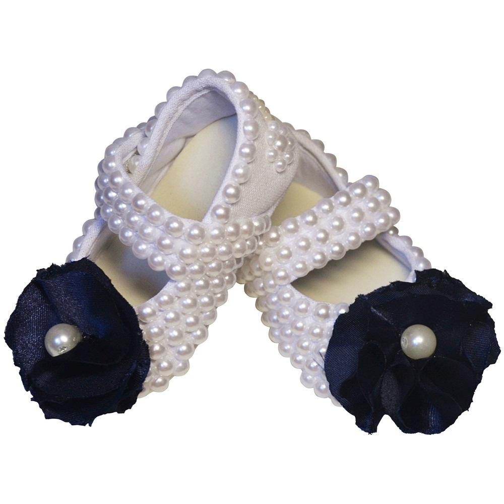 Sapato Pérolas Flor