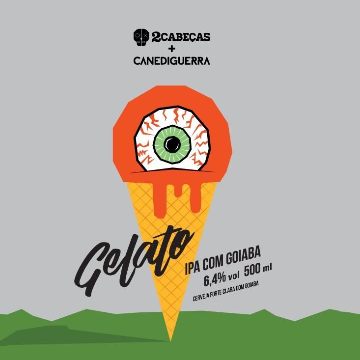 2 Cabeças / Canediguerra Gelato Lata 473ml IPA c/ Goiaba