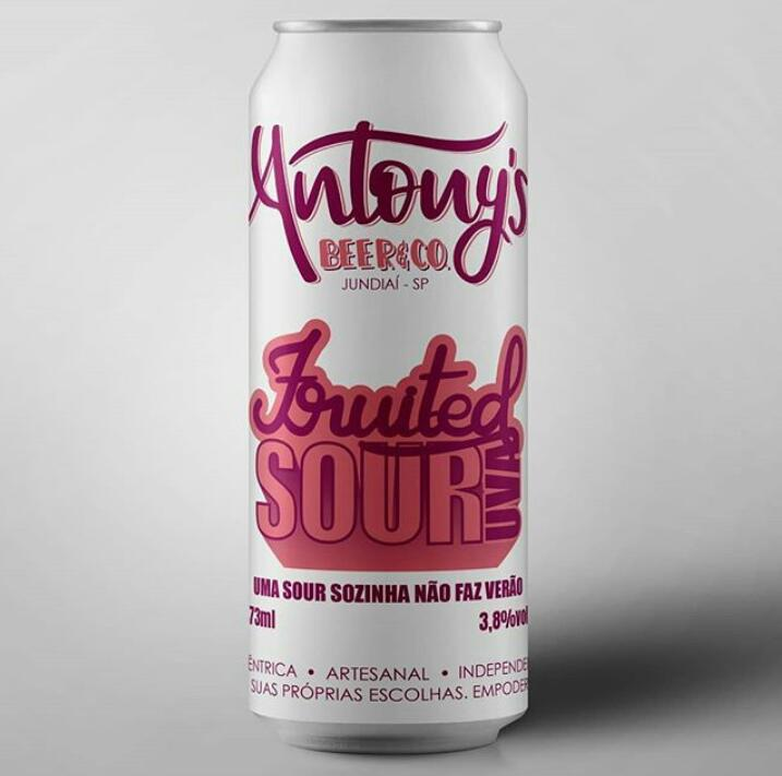 Antony's Beer & Co. Fruited Sour Uva Lata 473ml