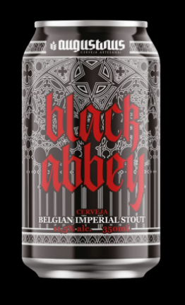 Augustinus Black Abbey Lata 350ML Belgian  Imperial Stout