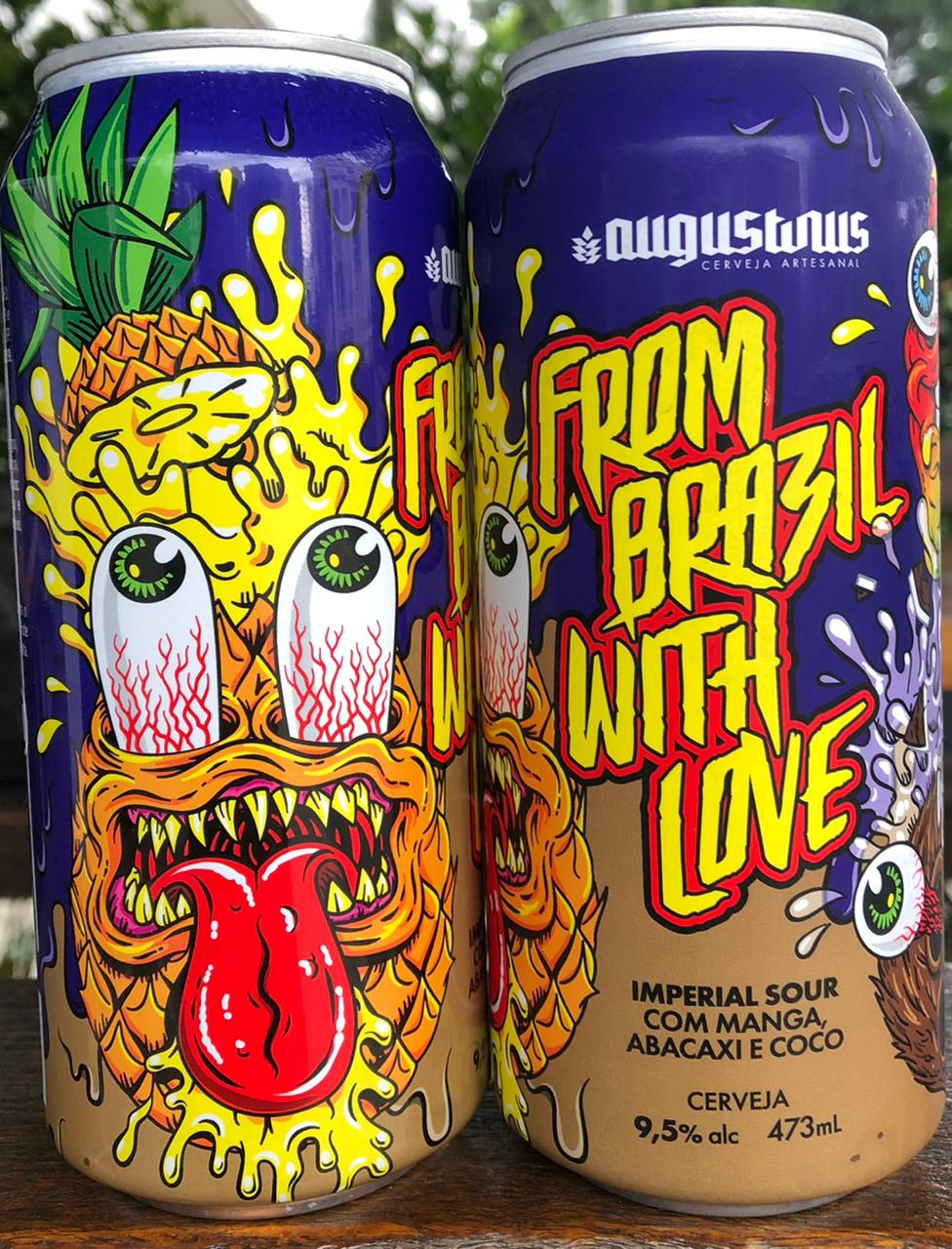 Augustinus From Brazil With Love Lata 473ml Imperial Sour com Manga, Abacaxi e Coco