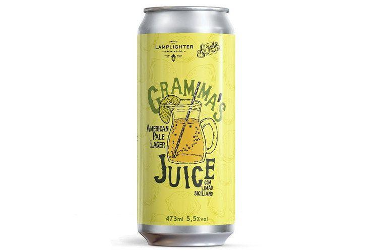 Avós / Lamplighter Gramma's Juice Lata 473ml APL com Limão Siciliano