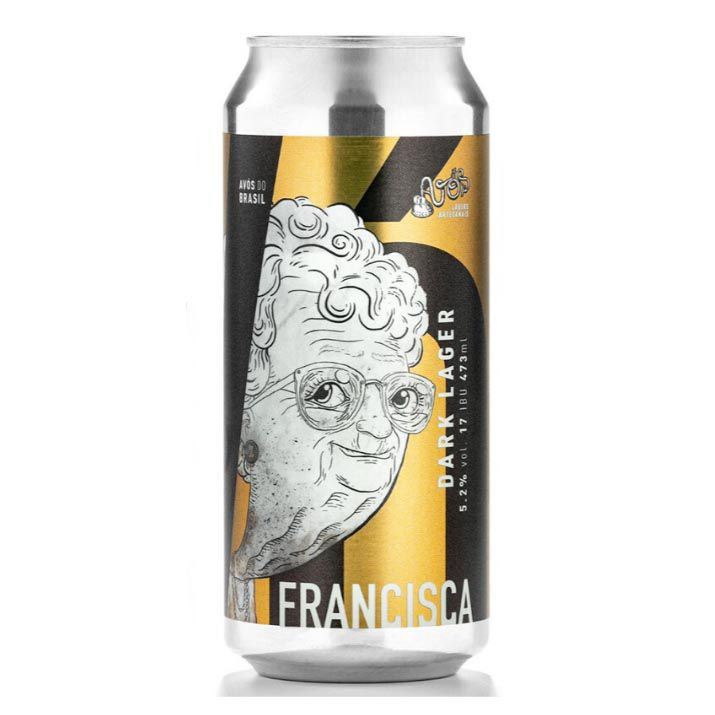 Avós Vó Francisca Dark lager Lata 473ml