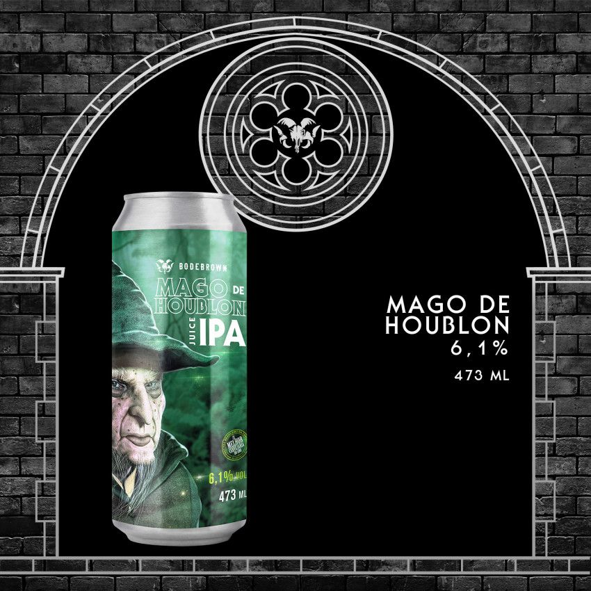 Bodebrown Mago De Houblon Juicy IPA  Lata 473ml