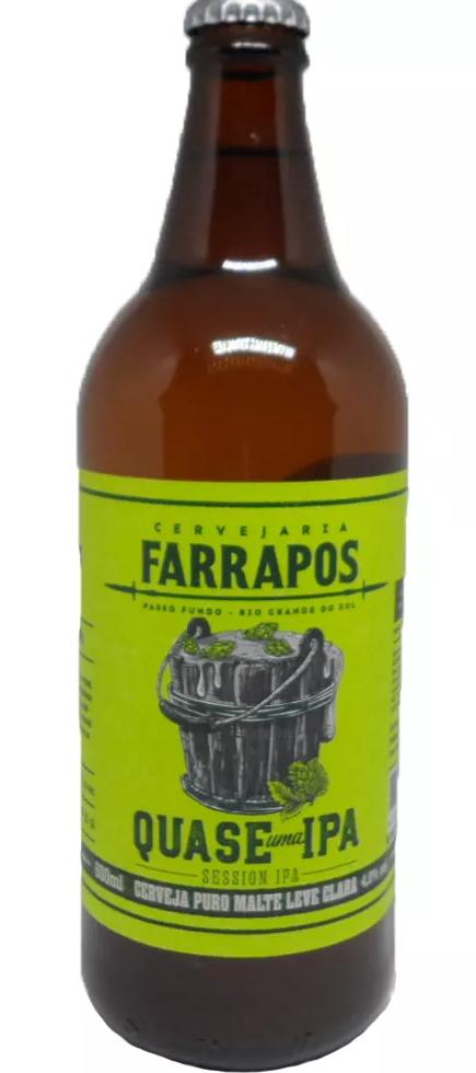 Cervejaria Farrapos Quase uma Ipa , Garrafa 600ml  , Session Ipa