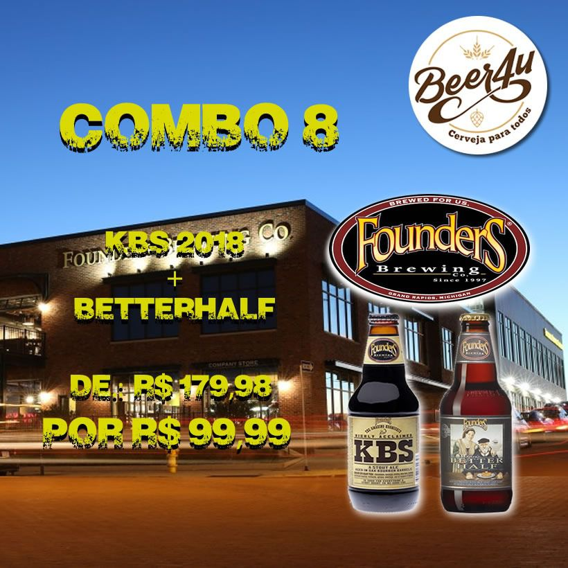 Combo 8 - Founders kbs 2018 + Curmudgeon's Better Half 355ml Bourbon BA- 2 unidades