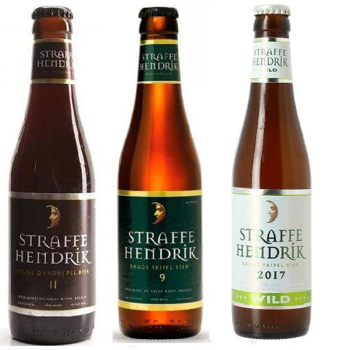 Combo Straffe Hendrik Tripel + Tripel Wild + Quadrupel + Taça
