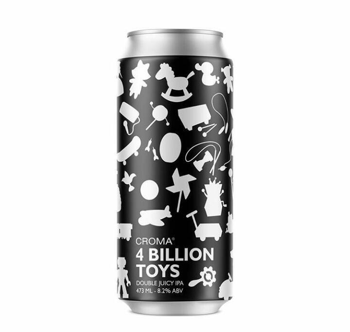 Croma 4 Billion Toys  Lata 473ml Double Juicy IPA