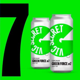 Croma Green Force #7 Vic Secret Lata 473ml Juicy IPA