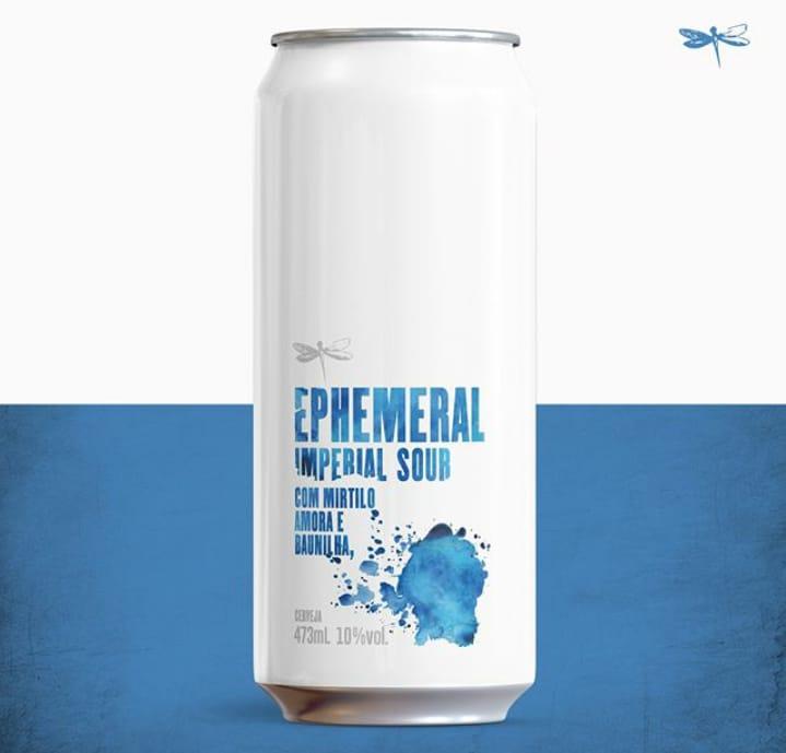 Dádiva Ephemeral Imperial Sour c/ mirtilo, amora, baunilha e cacau 473ml