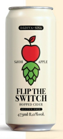 Dádiva Flip The Switch Hopped Cider (Gluten Free) lata 473ml