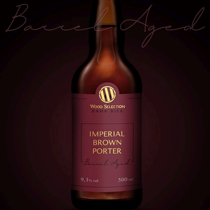 Dama Bier Wood Selection Imperial Brown Porter B.A. 500ml