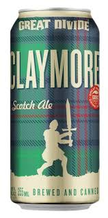 Great Divide Claymore Lata 355ml Scotch Ale