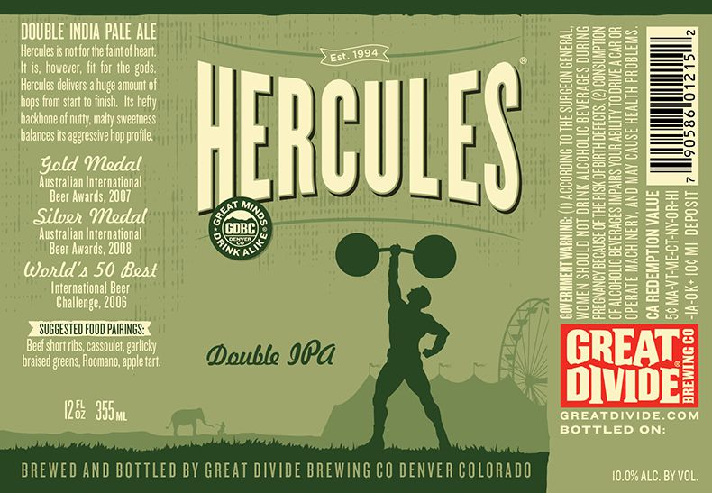 Great Divide Hercules Lata 355ml DIPA