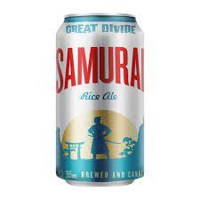 Great Divide Samurai Lata 355ml Rice Ale