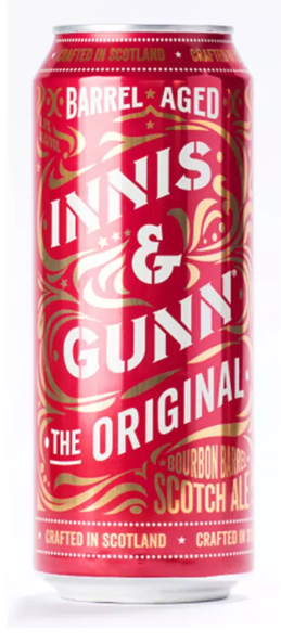 Innis & Gunn The Original Barrel Aged Lata 500ml Scotch Ale (validade 31/12/2018)