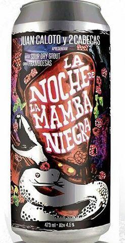 Juan Caloto & 2Cabeças La Noche De La Mamba Niegra Lata 473ml Dry Stout