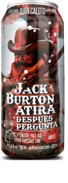 Juan Caloto Jack Burton Atira y Despues Pergunta Lata 473ml English pale ale