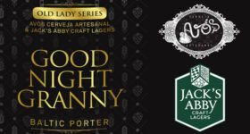 Kit 4 Garrafas 375ml  Avós / Jacks Abby Good Night Granny - Baltic Porter Base + BA Sassafrás + BA Amburana + BA Jequitibá