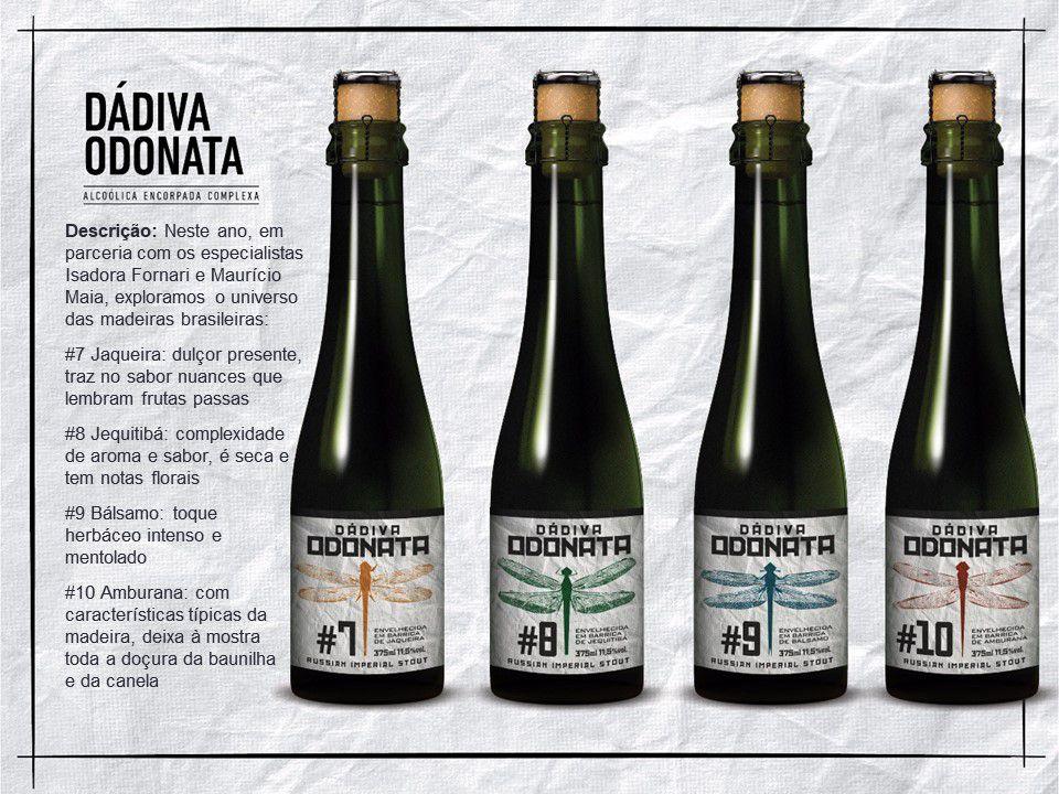 Kit Dádiva Odonatas #7, #8, #9 e #10 375ml RIS + TAÇA ODONATA CRISTAL