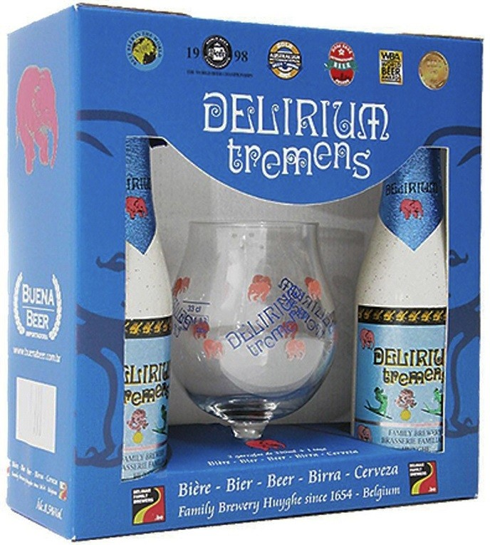 kit Delirium Tremens 2 Garrafas 330ml + Taça 330ml