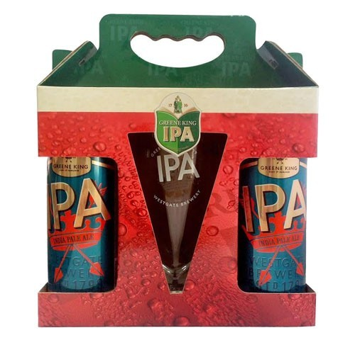 Kit Greene King IPA 2 Latas 500ml + Pint