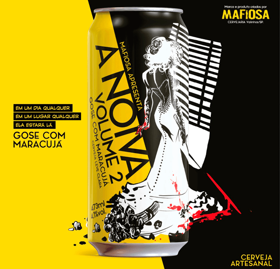 Mafiosa A Noiva - Volume 2 Lata 473ml Gose com Maracujá