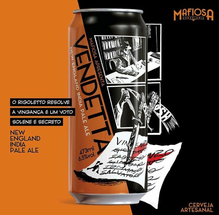 Mafiosa Vendetta  Lata 473ml New England  IPA