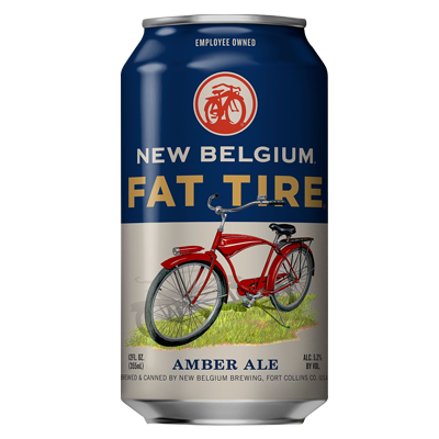 New Belgium Fat Tires Lata 355ml Amber Ale