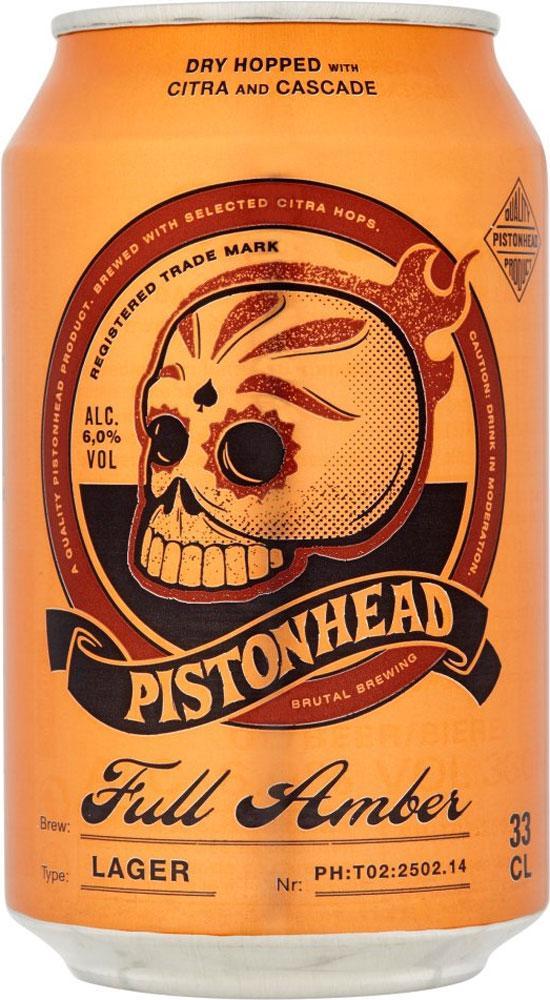 Pistonhead Full Amber Lata 330ml Amber Lager