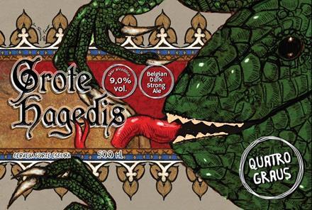 Quatro Graus Grote Hagedis 500ml Belgian Dark Strong Ale
