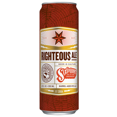 Sixpoint Brewery  Righteous Ale Lata 355ml Bourbon Barrel Aged (val 06/03/2019)