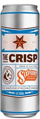 Sixpoint Brewery  The Crisp  Lata 355ml Hop Pilsen (val 06/03/2019)