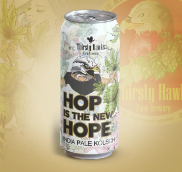 Thirsty Hawks Hop Is The New Hope India Pale Kolsch Lata  473ml