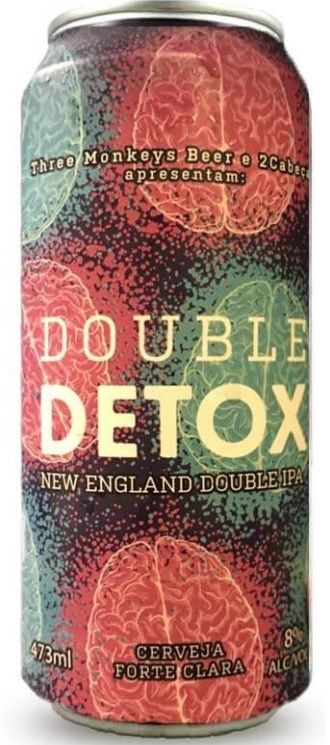 Three Monkeys Double Detox Lata 473ml NE DIPA