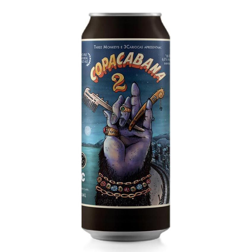 Three Monkeys & 3Cariocas Copacabana 2 Double Oatmeal Pale Ale 473ml