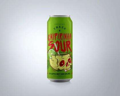 Treze Caipirinha Sour Lata 473ml Dry Hopped Brett Sour Com Limão