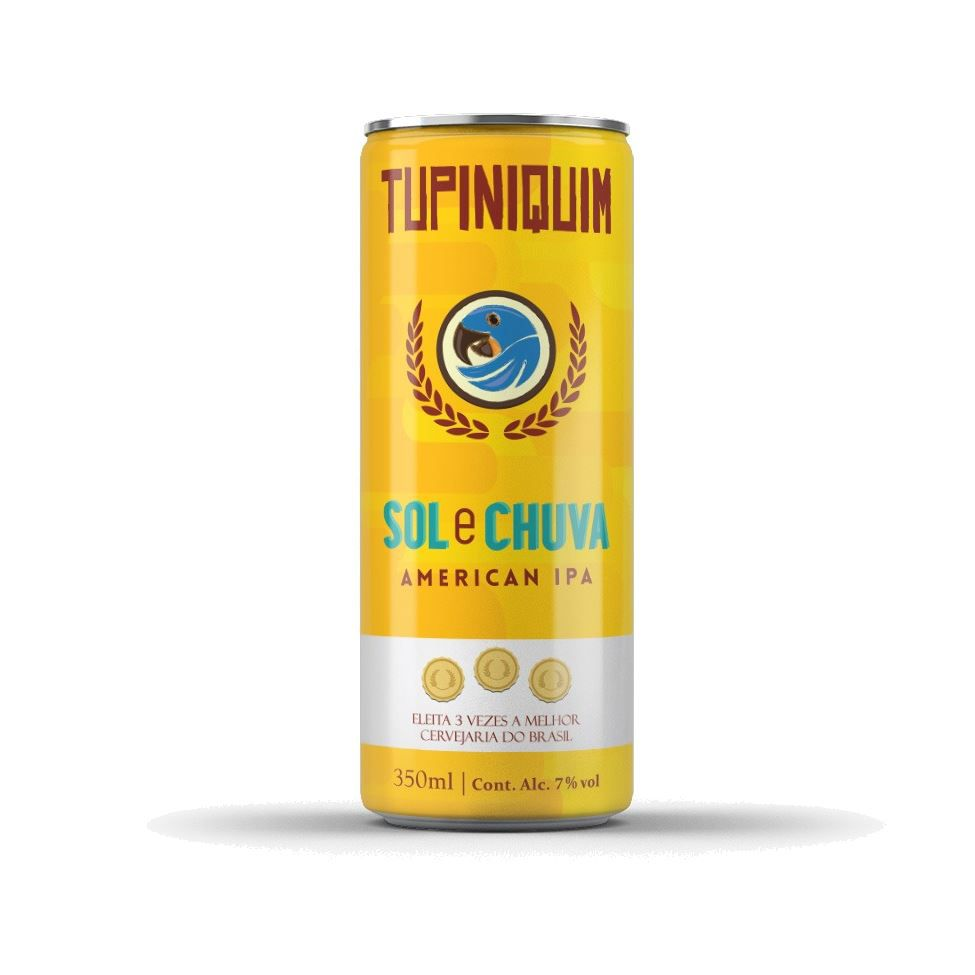 Tupiniquim Sol & Chuva Lata 350ml American  IPA