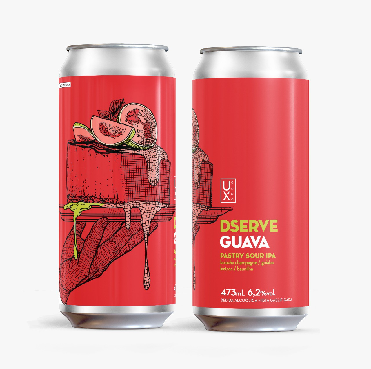 UX Brew Dserve Guava Pastry Sour Ipa lata 473ml