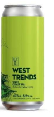 UX Brew West Trends Lata 473ml West Coast IPA