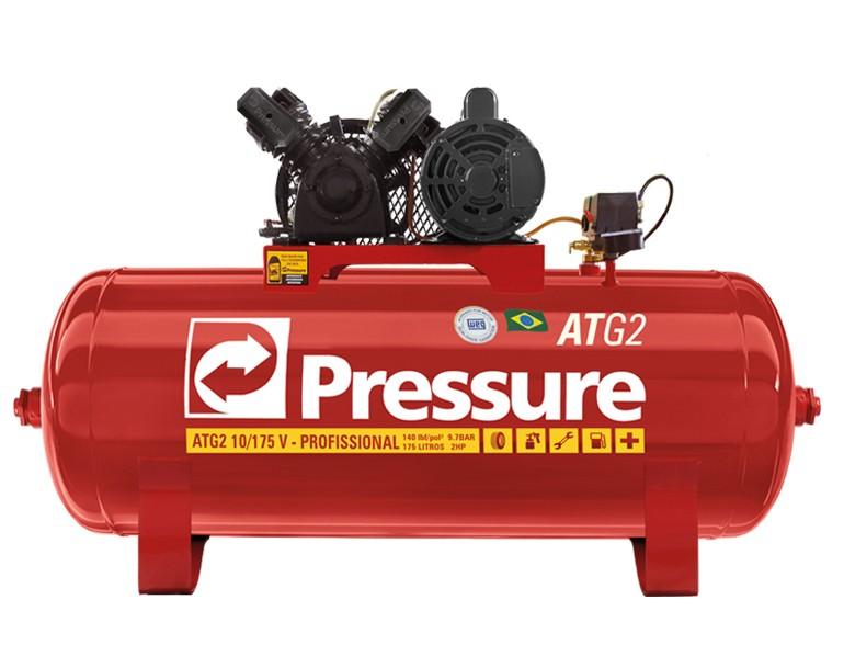 Compressor de Ar 10Pcm/100L 2HP Monofásico ATG2 Pressure