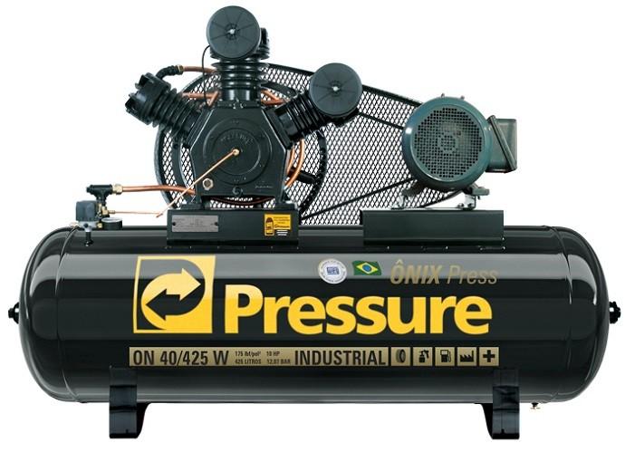 Compressor de Ar 40Pcm/425L 10HP Trifásico Onix Pressure