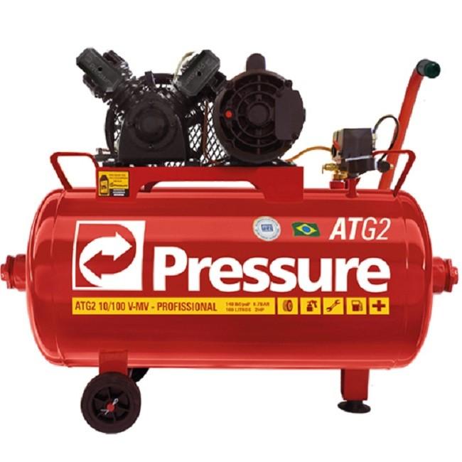 Compressor de Ar 10Pcm/50L 2Hp ATG2 monofásico Pressure