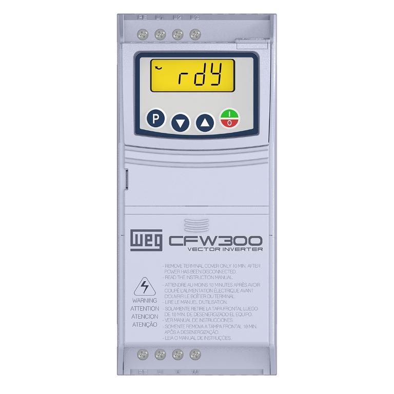 Inversor de Frequência Weg CFW300 MONO 220V 0,5CV 2,6A