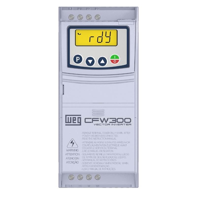 Inversor de Frequência Weg CFW300 MONO 220V 1,5CV 4,2A