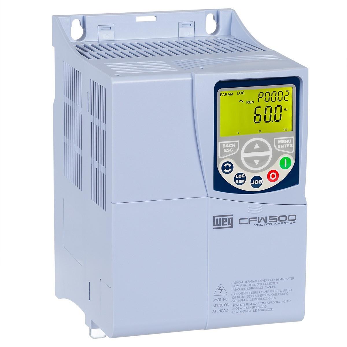 Inversor de frequência Weg CFW500 Entrada 380V 10CV 16A